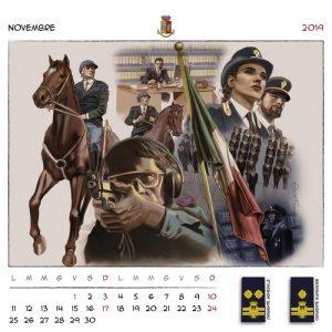 calendario Polizia 2019